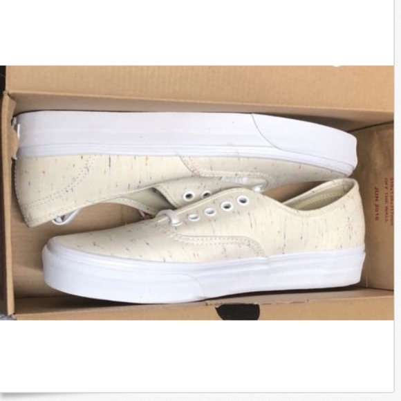7bfc4ef4d8 Vans Authentic Speckle Jersey Cream Shoes🌹
